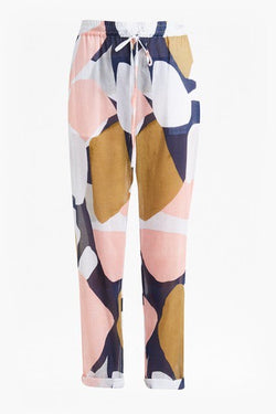 Sarasota Abstract Trouser - coral multi combo
