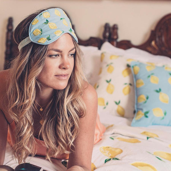 Lemon Chambray Eye Mask