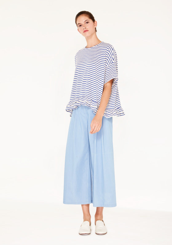 Oversize stripe t-shirt - blue