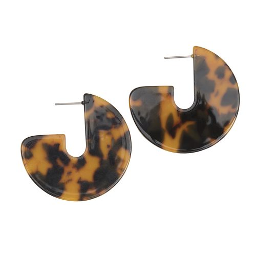 Resin Curve Earrings