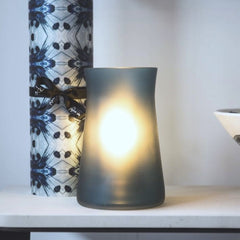 Waisted Frosted Petrol Mist table lamp from One Foot Taller. Lighting, lamp, contemporary lighting and light fittings