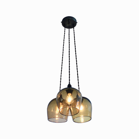 Contemporary Elegant Lighting, 3 Drop Suspension, dining lighting, quality UK made glass lighting