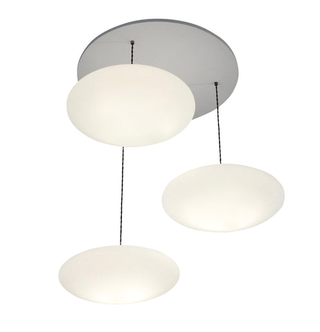 Etheletta 3 Drop Lighting Suspension, Etheletta 3-Drop Suspension, Calm white lighting, stairwell lighting