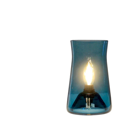 Waisted Table Lamp, Teal Blue