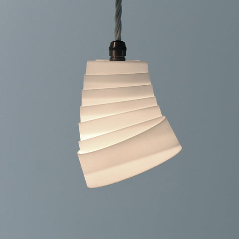 Whip pendant lamp, fine conical rings, lighting, lights, contemporary, white, delicate, interesting, LED, E14, dining, kitchen