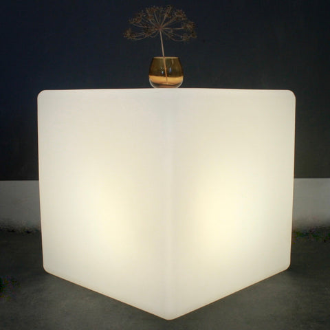 Cube Lit Table, Indoor