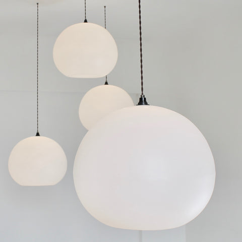 Polly Inverse Lampshade, multiple, large quality white lighting, contemporary pendant lighting, white lights, calm lighting, kitchen suspension, living room lighting