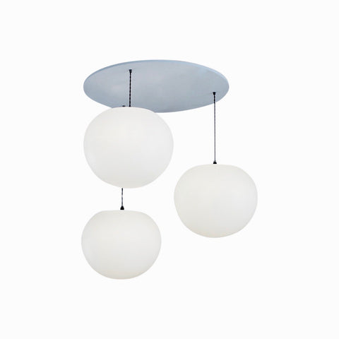 Polly Standard 3Drop Suspension, One Foot Taller lighting, bright diffuse lighting, stairwell lighting, elegant pendant lighting