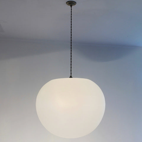 Polly Standard Lampshade, Modern globe pendant light, bright diffuse lighting, stairwell lighting, elegant pendant lighting