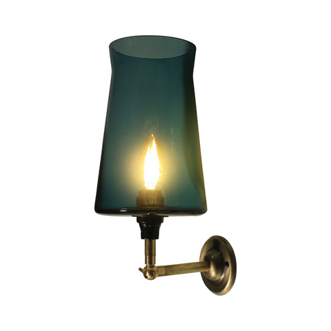 Waisted Wall Lamp Flat base, Teal Blue modern wall lighting, elegant modern wall lamp