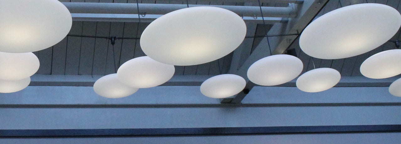 Contemporary elegant lighting, simple white lighting, decorative lighting for low ceilings, Etheletta Pendant Lampshade