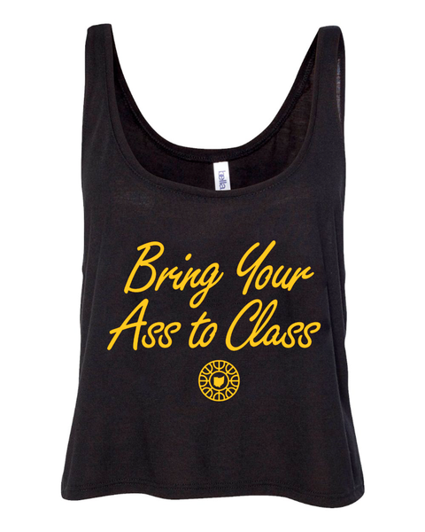Bring Your Ass to Class W Flowy Boxy Tank