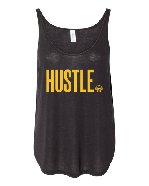 HUSTLE Women's Flowy Side Slit Tank