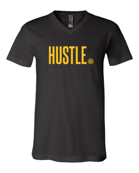 HUSTLE V Neck Unisex