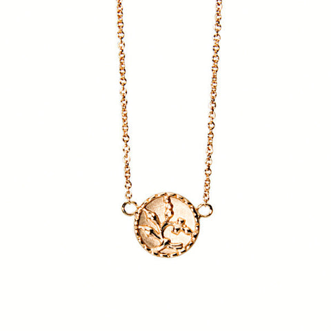 Antique 14K gold In Bloom Necklace