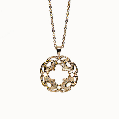 Antique 14K Gold and Diamond Alma Necklace