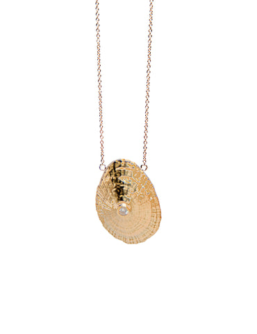 Unique 14K Gold and Diamond Fiji Necklace