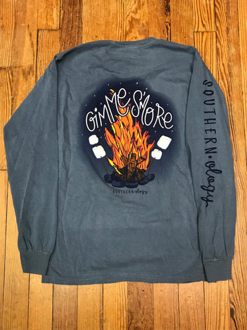 Gimme S'more Comfort Color Long Sleeve Tee