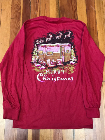 Merry Christmas Camper Sassy Frass Long Sleeve Tee