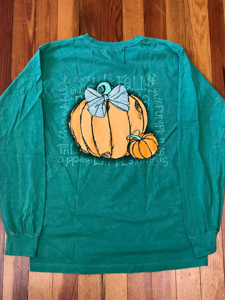 Fall Pumpkin Southernology Comfort Color Long Sleeve Tee