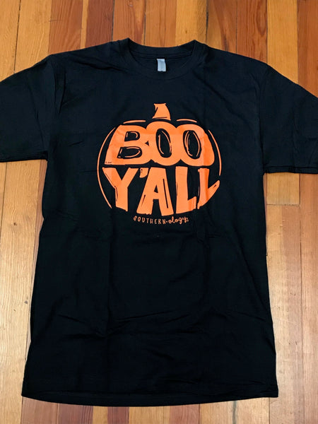 Boo Y'all Southernology Front Print Tee
