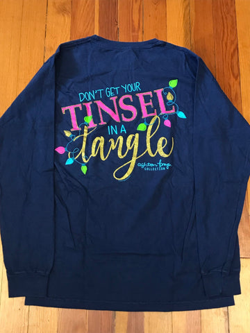 Don't Get Your Tinsel in a Tangle Southernology Comfort Color Long Sleeve Tee