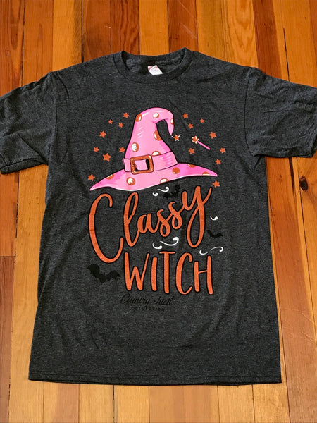 Classy Witch Simply Southern Glitter Tee