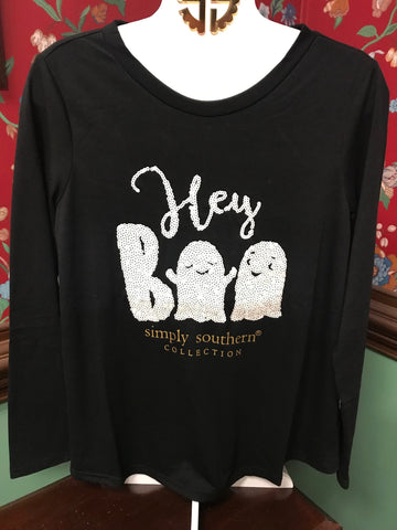 Hey Boo Simply Southern Sequin Tee