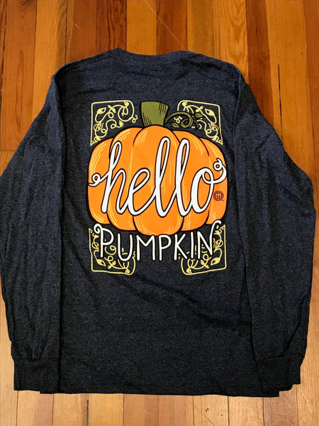Hello Pumpkin Girlie Girl Tee