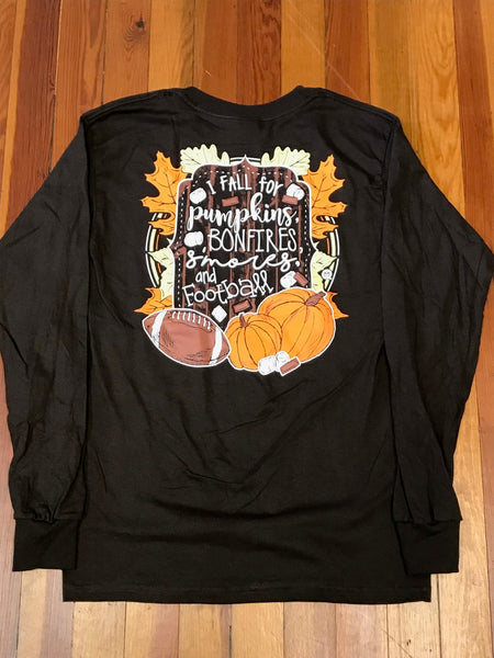I Fall for Pumpkins Girlie Girl Tee