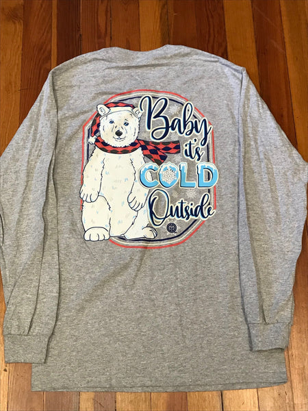 Baby It's Cold Outside Polar Bear Girlie Girl Tee