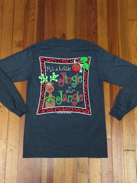 put a little jingle in your jangle long sleeve tee  u2013 southern recollection