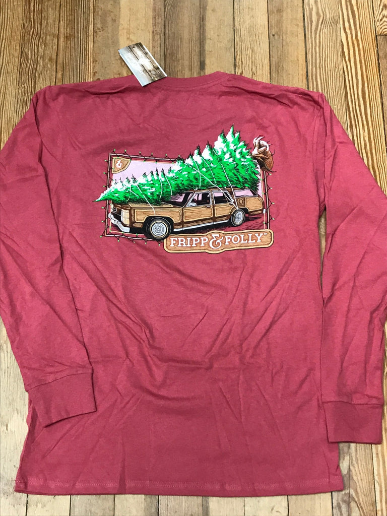 78f0767ed8c3 Family Vacation Christmas Station Wagon Long Sleeve Tee – Southern ...