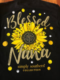 Blessed Nana Simply Southern Long Sleeve Tee