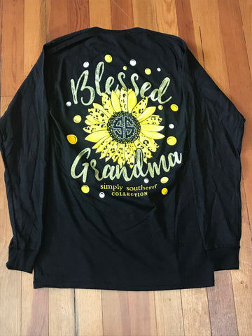 Blessed Grandma Simply Southern Long Sleeve Tee