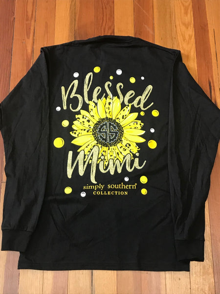 Blessed Mimi Simply Southern Long Sleeve Tee