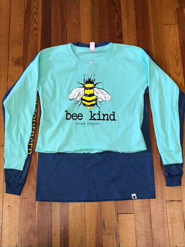 Bee Kind Shortie Simply Southern Tee