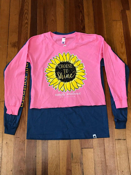 Choose to Shine Shortie Simply Southern Tee