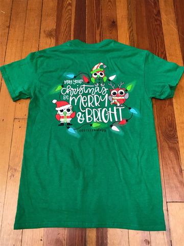 Merry & Bright Owls Southernology Tee