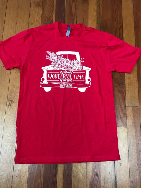 Christmas Wonderful Time of the Year Truck Southernology Tee