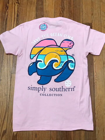 Save the Ocean Club Save the Turtles Simply Southern YOUTH Tee