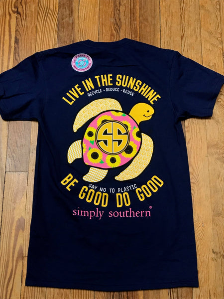 Live in the Sunshine Save the Turtles Simply Southern YOUTH Tee