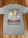 Tennis is Life Simply Southern YOUTH Tee