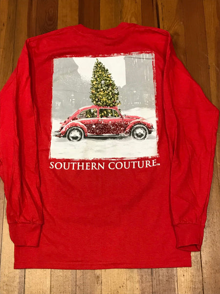Christmas Tree VW Bug Long Sleeve Tee