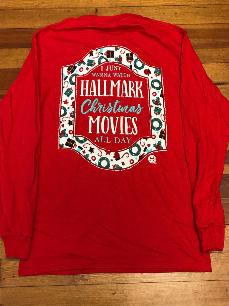 watch hallmark christmas movies all day long sleeve tee - Watch Hallmark Christmas Movies