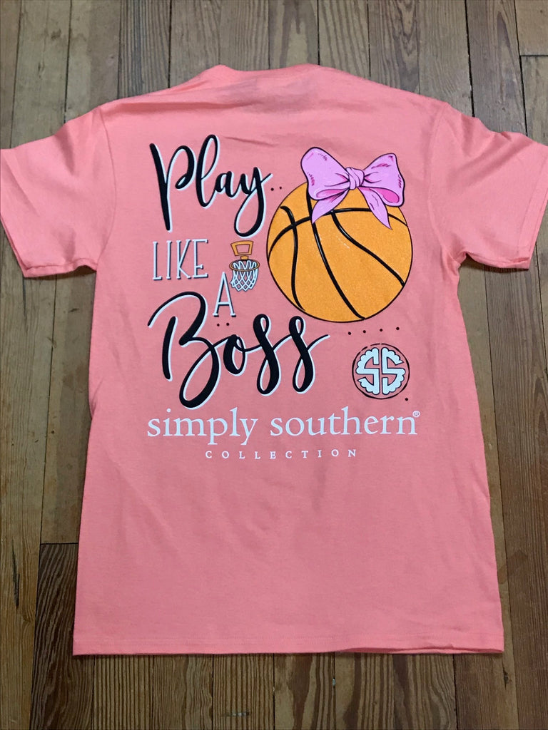 dd40556412d Play Like a Boss Basketball Simply Southern Tee – Southern Recollection