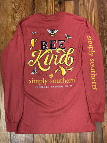 Bee Kind Simply Southern Long Sleeve Tee