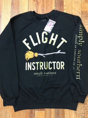 Flight Instructor Simply Southern Crew Sweatshirt