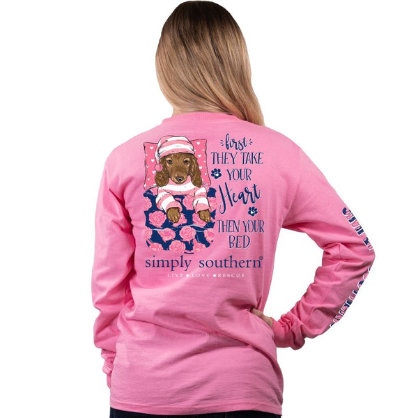 First They Take Your Heart Simply Southern Long Sleeve Tee
