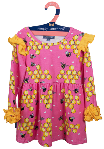 Simply Southern Ruffle Toddler Dress